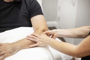 LC Physio Working On Elbow Rehabilitation