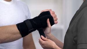 Healthcare Assistant Fitting Orthopaedic Product