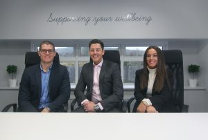 Paul Cooper, Tom Cooper & Hayley Huntley The co-owners of The Healthcare Hub